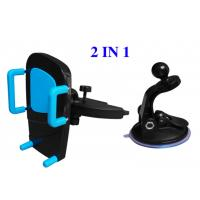 Cheap Plastic ABS Vehicle Cell Phone Holder , Automobile CD Slot Mobile Phone Holder for sale
