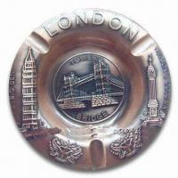Cheap Promotional London Ashtray, Made of Alloy, Available in Various Sizes and Colors for sale