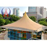 Cheap Practical Tensioned Membrane Structures White Woven Fabric Covered Buildings For Structural Systems wholesale