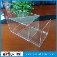 Cheap factory custom clear acrylic shoe boxes/perspex shoe box/display shoe box for sale