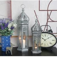 China Flickering Flame Effect LED Candle Lanterns Metal Hanging Warm White Garden Wall Lights on sale