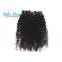 Cheap Black Women Natural Black Cambodian Hair Bundles , Spiral Curl 12-14 Inch Hair Extensions for sale