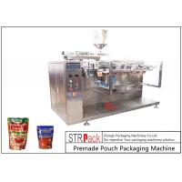 Cheap Sauce Premade Pouch Packaging Machine For Doypack , 3/4 Sides Sealed Bags , Pillow Bags for sale