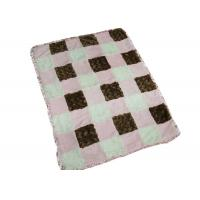 China Square Pattern Baby Swaddle Blankets For Travel / Home Skin Friendly on sale