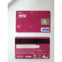 Fashion design wiz prepaid debit visa smart card with magstripe