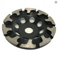 China T Type Segment Diamond Cup Wheel for Concrete Grinding , hard granite and engineered stones on sale