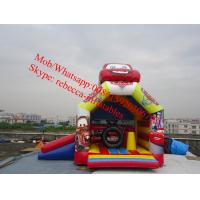 Cheap inflatable car bouncy combo inflatable bouncer slide for sale