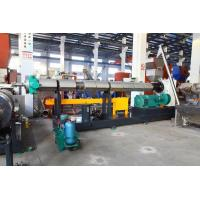 Cheap SJ150 PE PP flake/crap single crew extruder water ring pelletizing line for sale