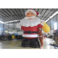 Cheap European Standard Inflatable Cartoon Characters , 3m Inflatable Santa Claus for sale