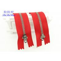 Cheap 6 Inch Antique Brass Closed End Zip Red Tape Semi Auto - Lock Slider For Dress / Shoes for sale