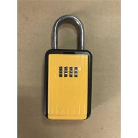 Cheap Portable Type Car Key Lock Box , Car Key Safe Lock Boxes in Yellow for sale