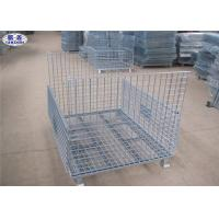 Cheap Metal Storage Wire Mesh Pallet Cages Basket Foldable Lockable COC Certificated for sale