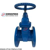 Cheap PN16 PN10 WEDGE NON-RISING SPINDLE RESILIENT SEATED CAST IRON GATE VALVE for sale