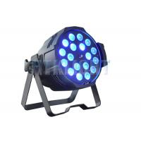 Cheap 18x18W RGBWA + UV Zoom Par LED Stage Wash Lights / Color Changing Stage Lights for sale