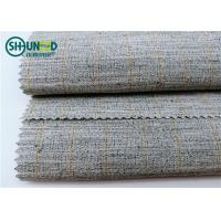 Quality Polyester Mixed Horsehair Interlining Canvas Hair Lining For Men Uniform Suits wholesale