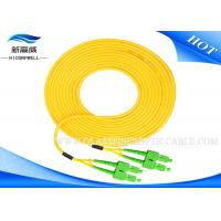 Buy cheap Outdoor IEC 60794 Patch Cord Optical Fiber , Yellow Paintcoat St Lc Fiber Patch Cable from wholesalers
