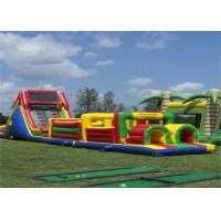 Cheap Funny Inflatable Obstacle Course , Bouncy Obstacle Course Jumpers With CE for sale