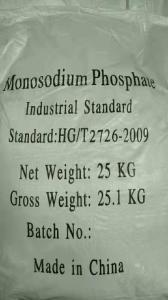 Cheap 98% Min Monosodium Phosphate MSP Sodium Phosphate Salts for sale