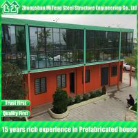 Cheap Prefab container house Luxury house container office with  Glass wall for sale