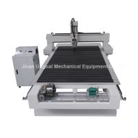 Cheap 4 Axis CNC Wood Engraving Machine with Rotary Axis Fixed in X-axis for sale