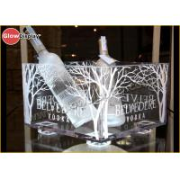 China Large Lighted Led Ice Bucket / Champagne Cooler Silk Printed Logo on sale