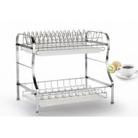 Cheap 2 Tier Stainless Steel Storage Racks On Wheels Free Move For Home Kitchen for sale