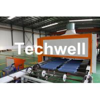 Cheap 0.4mm Al-Zn Plating Panel Steel Stone Coated Roof Tile Machine for sale
