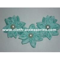China 120D Green Formal Chiffon Fabric Flower Corsage With Three Flower on sale