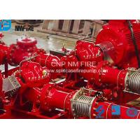 Cheap Single Stage Double Suction Centrifugal Fire Pump , Horizontal Split Pump 500GPM@120 PSI for sale