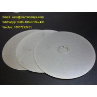 Cheap 6 Grit 400 Diamond Flat Lap Disc with electroplated grinding surface for lapidary for sale