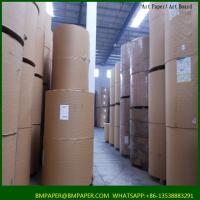 China stocklot art paper glossy paper coated paper material on sale