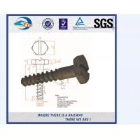 Cheap UIC Standard Black Railway Groud Screw Spike For Fastening Rails for sale