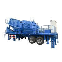 China Stone Mining Mobile Rock Crusher / Mobile Impact Crusher Station Crawler Type on sale