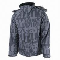 Cheap Men's Ski Jacket, Waterproof and Breathable, Denim-look Fabric for sale