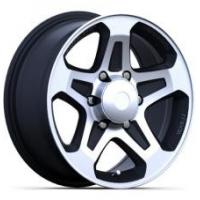 China 16x7 and 16X8 Aftermarket 4x4 Off Road Rims for Trucks Black Painted with Machined Face on sale