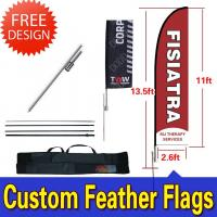 Quality Teardrop / Feather Flags Banner With 2.3kg Cross Base + Water Bag wholesale