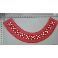 Cheap Eco friendly Red Flower Beaded Collar Necklace Handmade Customized for sale