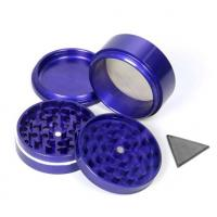 Cheap hot sales colorful novelty 4 part CNC Aluminum handle wholesale herb grinder for sale