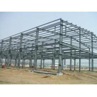 Q235 / Q345 Grade Simple Industrial Steel Structures , Prefab Factory Steel Buildings