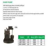 Cheap SUMP PUMP SDP-550S SDP-750S SDP-1100S for sale