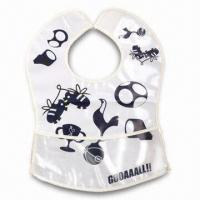 Cheap Lovely Baby Bib, ODM Orders are Welcome, Made of Soft Plastic (PE) for sale