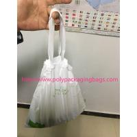 Cheap HDPE / LDPE Clear Drawstring Plastic Bags For Supermarket / Hospital for sale