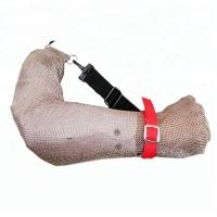 Cheap Arm Safe Cut Resistant Arm Sleeves 304L Stainless Steel Metal Mesh Wire Mesh Sleeve 5 Level Protection For Butcher Work for sale
