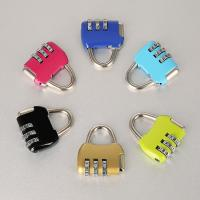 Cheap Travel Luggage Resettable Combination Padlock 3 Numbers For Password Suitcase for sale