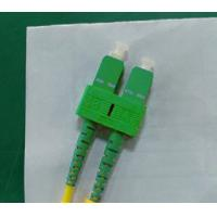 SM Duplex Fiber Optic Patch Cable , SC / APC Connector PVC Cable