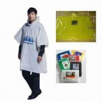 Cheap PE Waterproof Poncho, Various Sizes are Available for sale