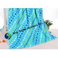 China Blue polka dot beach towels , personalized beach towels for adults 275g/pcs on sale