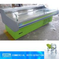 Cheap 2.5m customized color supermarket commercial showcase meat display refrigerator for sale