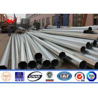 Cheap One Section Design 35FT Electric Galvanised Steel Pole 500kg Design Load for sale
