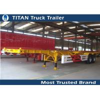 Cheap Double axles 20ft 40ft skeletal trailer chassis for containers with Double brake chamber for sale